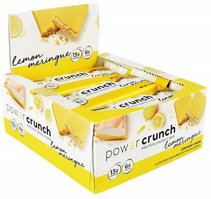 Power Crunch Original Bio Nutricional Sabor Limão (Cx c/ 12 Unidades de 40g) - BNRG