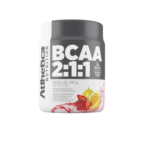 BCAA 2:1:1 Pro Series Sabor Morango com Maracujá (210g) - Atlhetica Nutrition