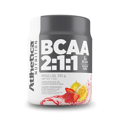 BCAA 2:1:1 - Pro Series - Atlhetica Nutrition - Morango com Maracujá - 210g