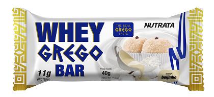 Whey Grego Bar Beijinho (1 unidade de 40g) - Nutrata