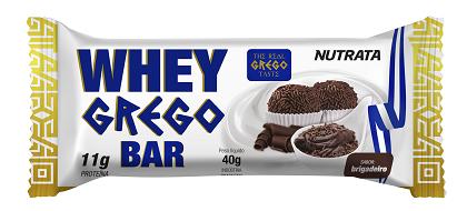Whey Grego Bar Brigadeiro (1 unidade de 40g) - Nutrata