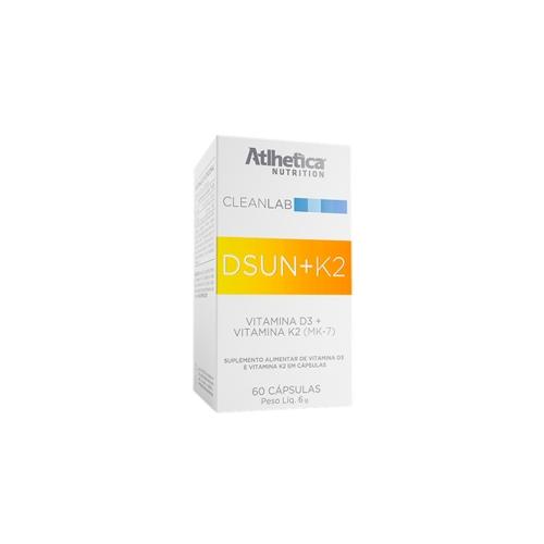 Dsun+K2 (60 Cápsulas) - Atlhetica Nutrition