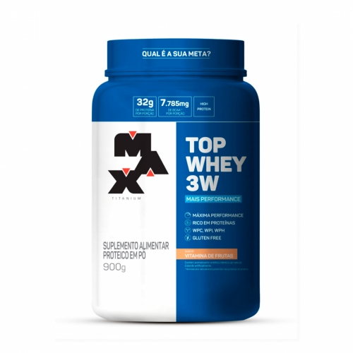 Top Whey 3W Mais Performance Sabor Vitamina de Frutas (900g) - Max Titanium