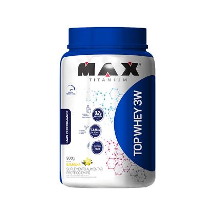 Top Whey 3W Mais Performance Sabor Vitaminas de Frutas (900g) - Max Titanium