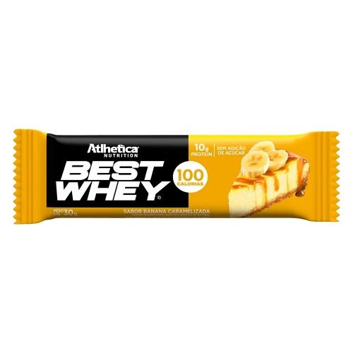 Best whey Bar Sabor Banana (1 Unidade de 32g) - Atlhetica Nutrition