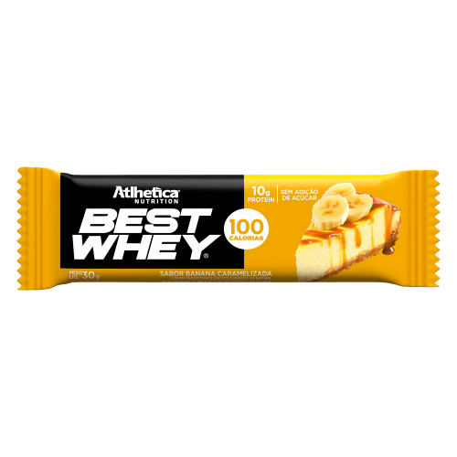 Best whey Bar Sabor Banana (1 Unidade de 32g) - Atlhetica Nutrition