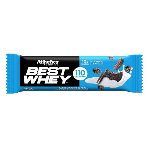 Best whey Bar Sabor Cookies (1 Unidade de 32g) - Atlhetica Nutrition