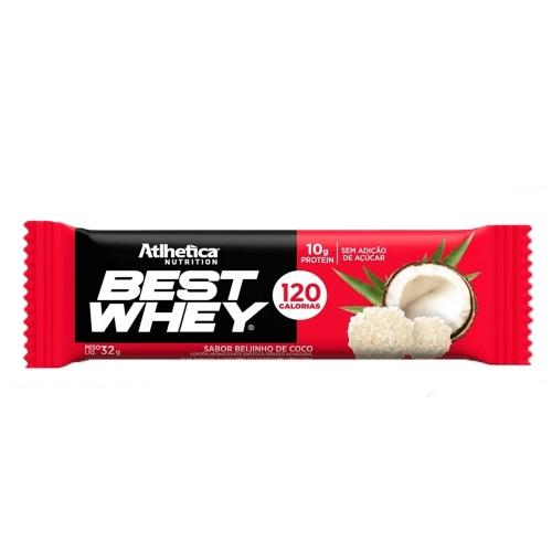 Best whey Bar Sabor Beijinho e Coco (1 Unidade de 32g) - Atlhetica Nutrition