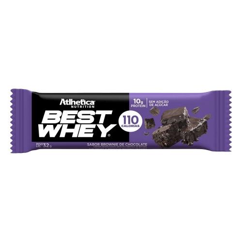 Best whey Bar Sabor Brownie de Chocolate (1 Unidade de 32g) - Atlhetica Nutrition