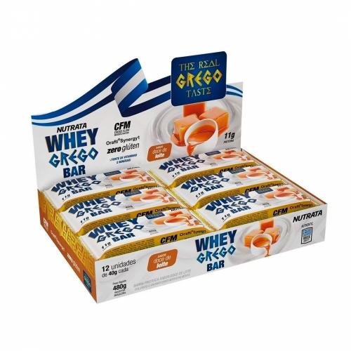Whey Grego Bar Sabor Doce de Leite (Cx com 12 unidades de 40g) - Nutrata