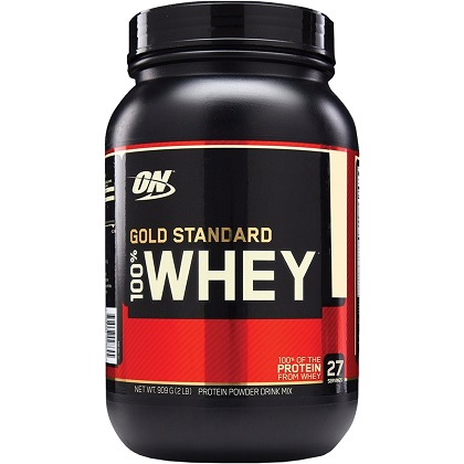 100% Whey Protein Gold Standard - Chocolate c/ Avelã - 909g - Optimum Nutrition