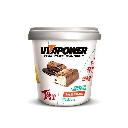 Pasta de Amendoim Integral Press Cream (1.005kg) - VitaPower