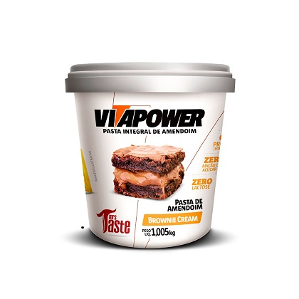Pasta de Amendoim Integral Brownie Cream (1kg) - VitaPower
