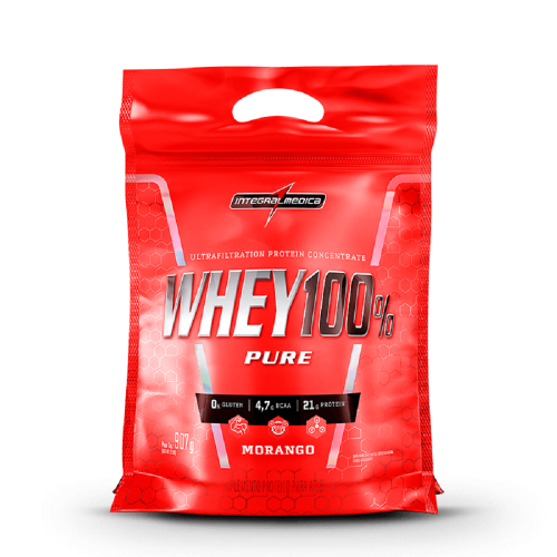 Whey 100% Pure (Refil) - Cappuccino - Integralmédica - 907g
