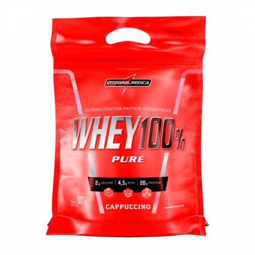 Whey 100% Pure Sabor Cappuccino (907g) Refil - Integralmédica