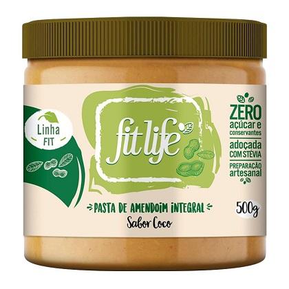 Pasta de Amendoim Linha Fit Sabor Natural (500g) - Fit Life