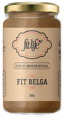 Pasta de Amendoim Fit Premium Sabor Chocolate Belga (360g) - Fit Life