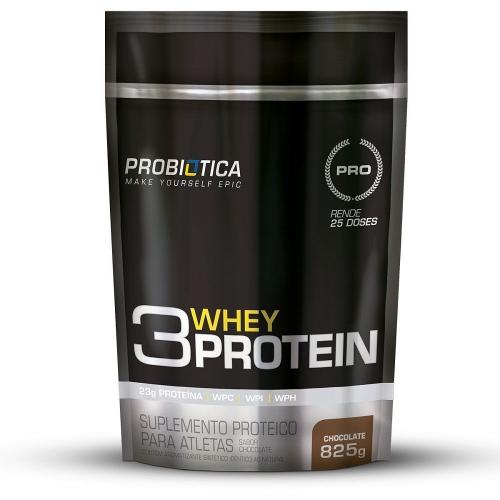3 Whey Protein Sabor Morango (825g) - Probiótica