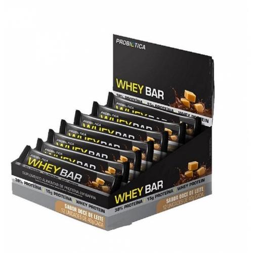 Whey Bar Sabor Doce de Leite (12 Unidades de 40g) - Probiótica