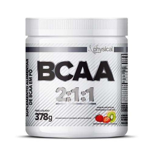 BCAA 2:1:1 (378g) Sabor morango com Kiwi- Physical Pharma