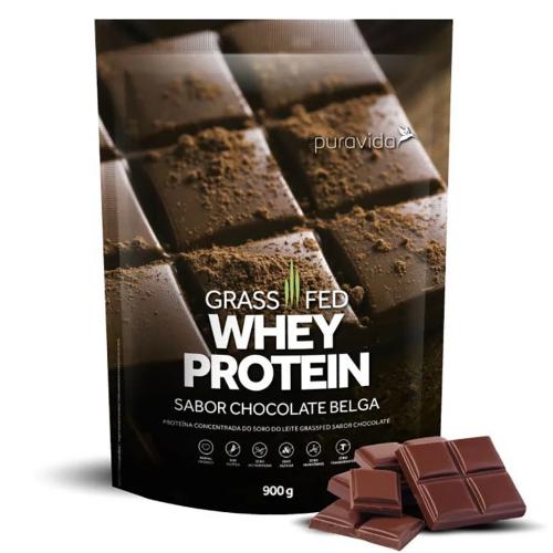 Whey Protein Grassfed Sabor Chocolate Belga (900g) - Pura Vida