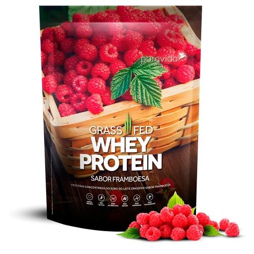 Whey Protein Grassfed Sabor Framboesa (900g) - Pura Vida