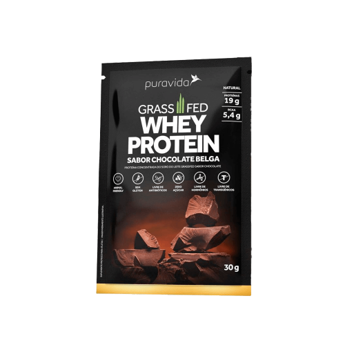 Whey Protein Grassfed Sabor Chocolate (1 Sachê de 30 g) - Pura Vida