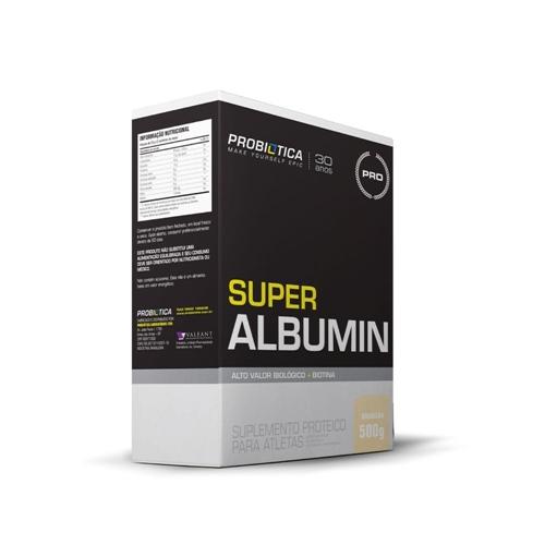 Super Albumina Sabor Banana c/ morango (500g) - Probiótica