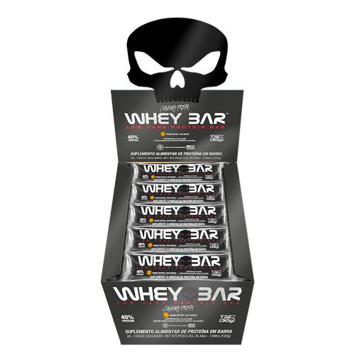 Whey Bar Sabor Banana (Cx c/ 24 Unidades de 30g) - Black Skull