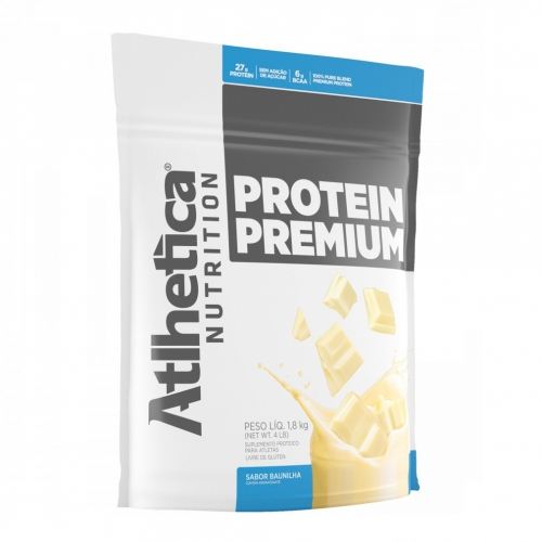 Protein Premium Pro Series Refil Morango (850g) - Atlhetica Nutrition