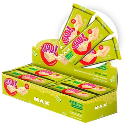Uau Protein Bar Sabor Torta de Limão (Cx c/12 unidades de 45g) - Max Titanium