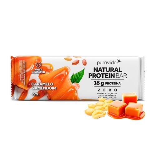 Natural Protein Bar Sabor Caramelo e Amendoim (1 Unidade de 60g) - Pura Vida