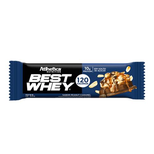Best whey Bar Sabor Peanut Caramel (1 Unidade de 32g) - Atlhetica Nutrition