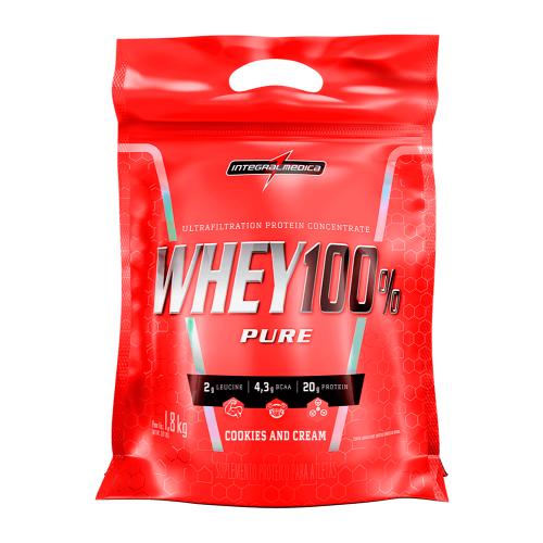 Whey 100% Pure - Refil Sabor Cookies & Cream (1,8Kg) - Integralmédica