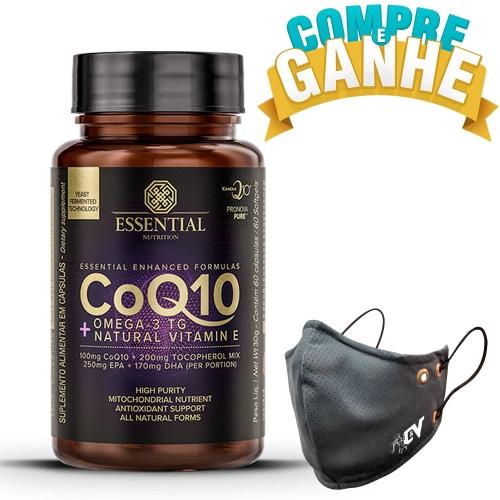 CoQ-10 + Ômega 3 + Vitamina E (60 Cápsulas) - Essential