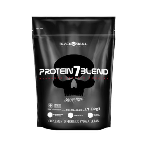 Protein 7 Blend Sabor Morango (1,8Kg) Refil - Black Skull