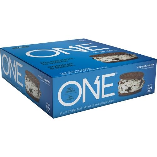 One Bar - Cookies & Créme (Caixa c/ 12 Unidades de 60g cada) - Oh Yeah!