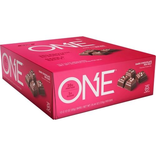 One Bar - Dark Chocolate Sea Salt (Caixa c/ 12 Unidades de 60g cada) - Oh Yeah!