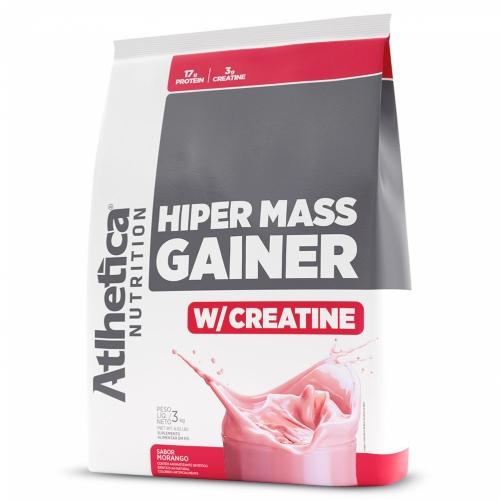 Hiper Mass Gainer Sabor Morango (3kg) - Atlhetica Nutrition