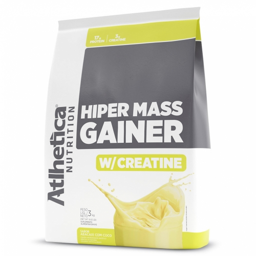 Hiper Mass Gainer Sabor Abacaxi com Coco (3kg) - Atlhetica Nutrition