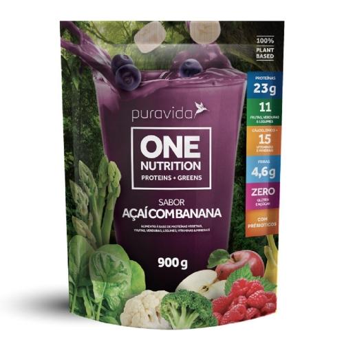 One vegan Sabor Açai c/ Banana (900g) - Pura Vida