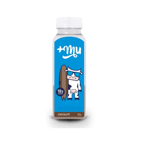 Garrafinha de Whey +Mu Sabor  Chocolate (32g) +Mu