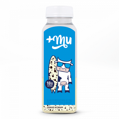 Garrafinha de Whey +Mu Sabor Cookies (32g) +Mu