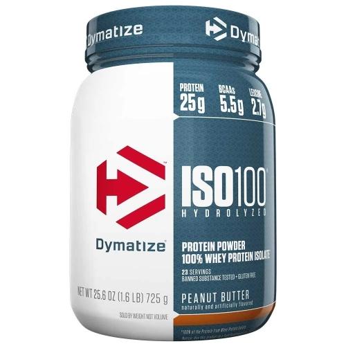 Whey Protein Hydrolized Iso 100 Sabor amendoim (726g) - Dymatize