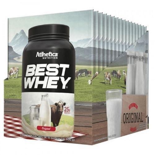 Best Whey - Sabor Original com café (1 Caixa 15 Unidades) - Atlhetica Nutrition