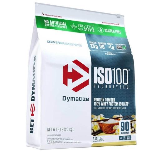 Iso 100 Natural  Sabor Bolo de aniversario - (2,7kg Refil) (Stevia) - Dymatize