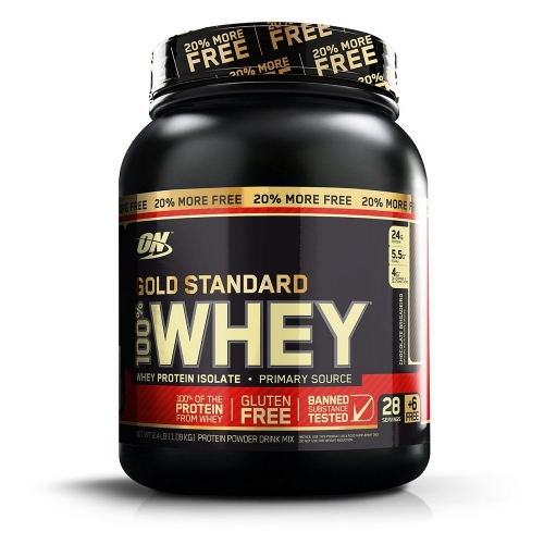 100% Whey Protein Gold Standard 20% More FREE Sabor Rich Chocolate (1.09kg) - Optimum Nutrition