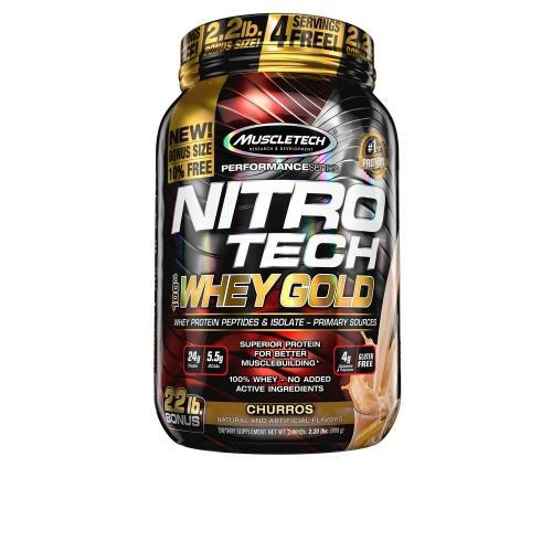 Nitro Tech 100% Whey Gold Sabor Vanilla Funnel Cake (999g) - Muscletech