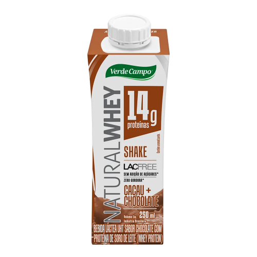 Shake Natural Whey Sabor Chocolate (250ml) - Verde Campo