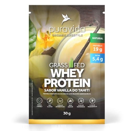 Whey Protein Grassfed Sabor Baunilha do Tahiti(1 Sachê de 30 g) - Pura Vida